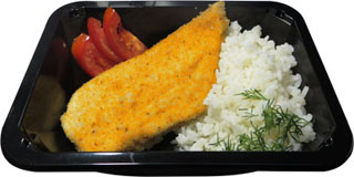 Шницель куриный с рисом 100\180 гр