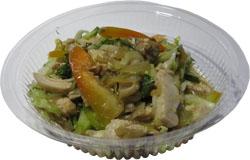 Салат  с вешенками и курицей 110гр