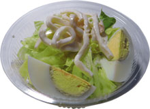 Салат из кальмаров  100гр