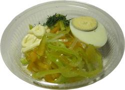 Салат из болгарского перца с яйцом